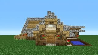 Minecraft Tutorial How To Make A Survival Starter House 5