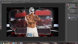 """Photoshop WWE """"Как сделать виртуальные бои"""""""