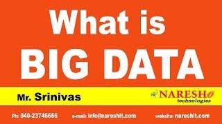 What is Big Data | Hadoop Tutorial Videos | Mr. Srinivas | Big Data Tutorial
