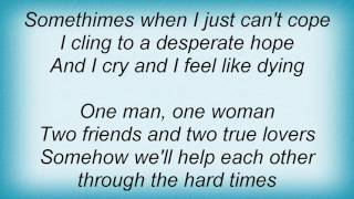 Abba - One Man, One Woman Lyrics