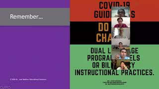 Dual Language Program Considerations:  A Return To School  Under COVID-19 Guidelines