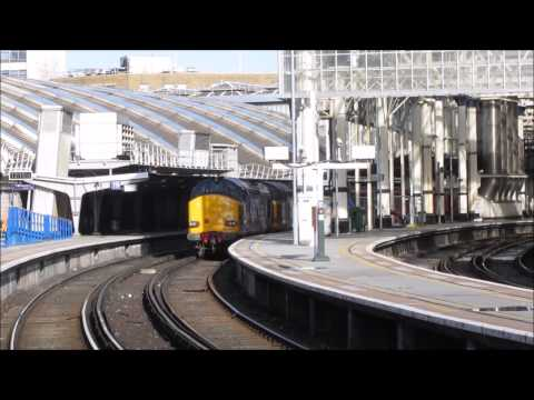 DRS 37609 & 37610 on route learning trips at London Waterloo…