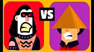 Bowmasters #27 Мультфильм Игра про ДУЭЛЬ ГЕРОЕВ Игровой мультик не для детей Боумастер
