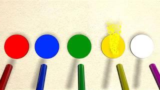 Видео Для детей  Красим шарики  Learn Colors