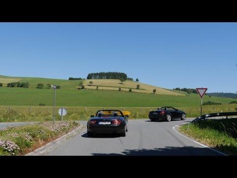 Convertible tour Sauerland with Mazda MX5, Lotus Elise, Mercedes SLK, Jaguar XK