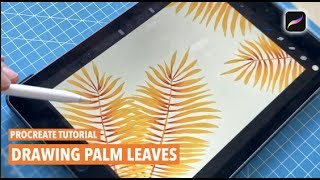 Drawing Tutorial | Easy Leaves | Leaf  Illustration | IPad Art | Procreate