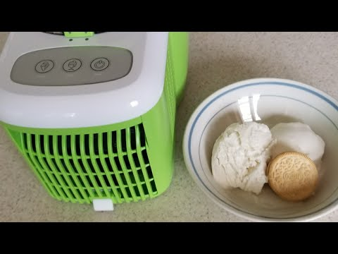 Ice Cream Maker Self Freezing Cook's Essentials 1.5 Pint Review FIRST LOOK