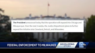 President Trump orders federal  law enforcement to Milwaukee