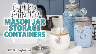 Pretty Beach Themed Painted Mason Jars Containers Decor And Gift Idea!