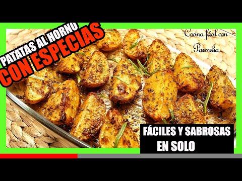 Patatas al horno con especias ¡Fáciles y sabrosas!