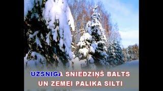 """Uzsniga sniedziņš balts - karaoke """"Agrais rīts"""" www.kar.lv"""