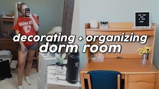 College Move In: Decorating + Organizing My Dorm Room