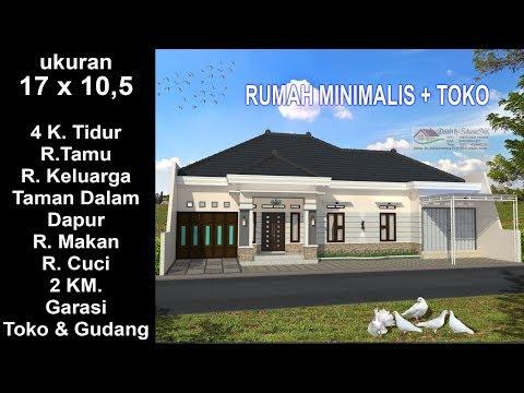 Modern House 17x 10 5 4 K Tidur Desain Rumah Minimalis Lantai 1