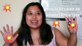 How to Become an Adjunct Professor