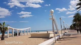 Путешествия по Аликанте на велосипеде, едем на пляж Urbanova, пляжи Испании