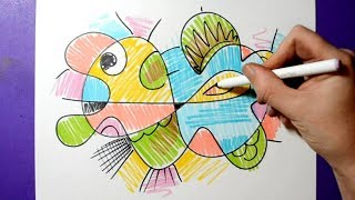 Fun Doodle - Colorful Abstract Drawing Activity / Satisfying & Relaxing