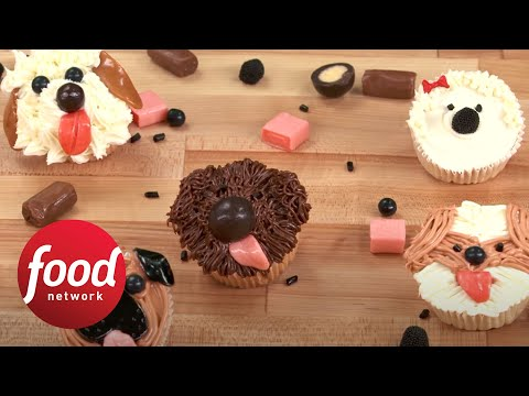 Woof! How to Make Adorable Dog Cupcakes   Food Network