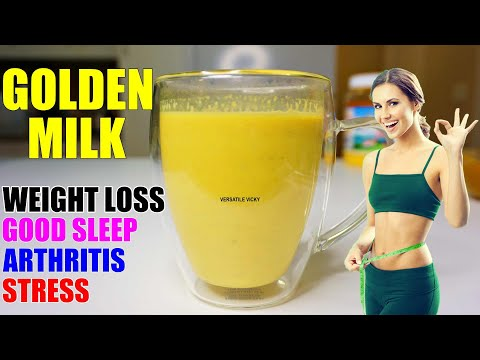 Turmeric Milk For Weight Loss (2 Ways)   Golden Milk For Weight Loss