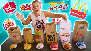 GUESS THAT FAST FOOD BURGER! **Blindfold Taste Test**