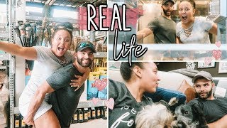 REAL DAY IN THE LIFE OF A YOUNG MARRIED COUPLE 2018 | COME WITH US TO LOWES! | Page Danielle