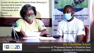Discours du Dr Denis Mukwege à l'occasion de la Journée Internationale pour l'Elimination de