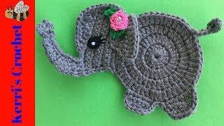 Baby Elephant Crochet Tutorial - Crochet Applique Tutorial