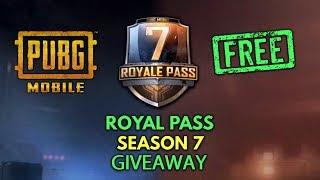 free elite pass pubg mobile season 7 giveaway - TH-Clip