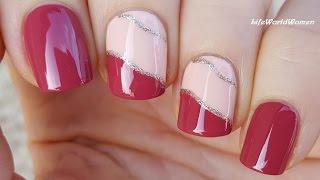 DIY EASY NAILS: Pale Pink & Peach NAIL ART TUTORIAL