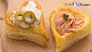 Puff pastry hearts - quick recipe
