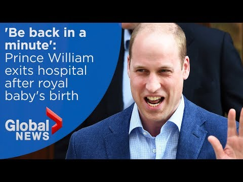 Royal baby: Prince William emerges from hospital after birth of third child