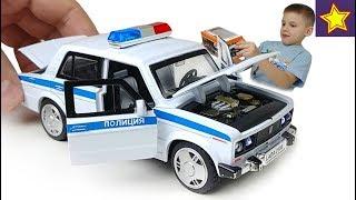 Полицейская машинка Жигули из Китая Ловим лихача на ауди Diecast Cars Toys