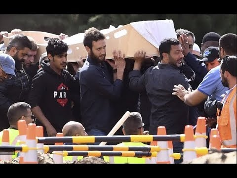 Pengebumian pertama mangsa keganasan di NZ hari ini