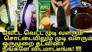 அசுரவேகத்தல முடி வளர வெறும் 2 ரூபாய் போதும்/Fast,long Hair Growth Remedy In Tamil