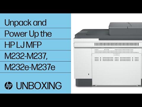 Unpack and Power Up the HP LaserJet MFP M232-M237, M232e-M237e Printer Series | HP LaserJet | @HPSupport