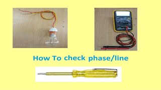 Different Methods of Line Testing||neon line tester||line tester||line/phase testing|Line Tester