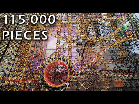 I spent one year building this 115,000 piece K'nex ball contraption for the lobby of a local children's engineering museum.