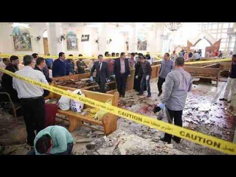 Al menos 43 muertos dejan ataques del EI contra dos iglesias en Egipto