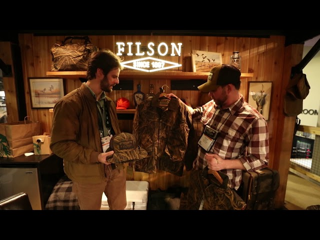 5f7374c710 The line includes an upland coat, a down vest with mackinaw wool collar  along with caps and hats. Filson products are made in the USA and are  guaranteed for ...