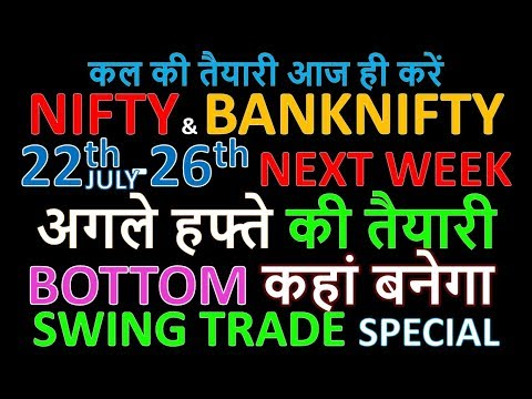 Bank Nifty & Nifty tomorrow 22nd-26th July 2019 daily chart Analysis SIMPLE ANALYSIS POWERFUL RESULT