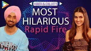 Laugh Riot: Diljit & Kriti's Most Hilarious Rapid Fire | Kartik | Sara | Deepika | Arjun Patiala
