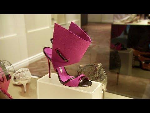 Shoe designer Manolo Blahnik displays collection in Toronto