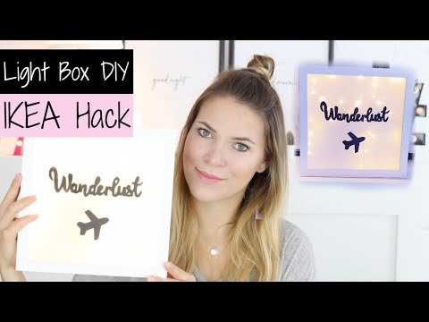 DIY LIGHT BOX - Ikea Hack | Pia Pietsch