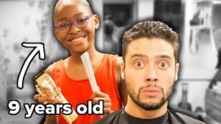 The World's Youngest Barber Gives Me A Haircut