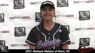 2021 Makayla Webber Pitcher and Outfield Softball Skills Video