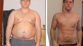 Похудевший молодой человек на 200 кг
