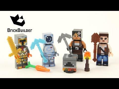 Vidéo LEGO Minecraft 853610 : Assortiment d'habillages 2