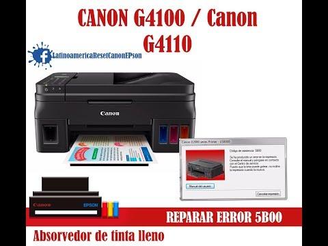 Canon G4000 5b00 Error Reset