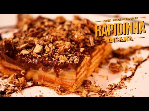 Pavê de Creme de Amendoim com Chocolate