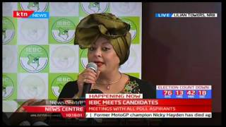Presidential aspirant Nazlin Umar shares remarks at IEBC presidential candidates meeting