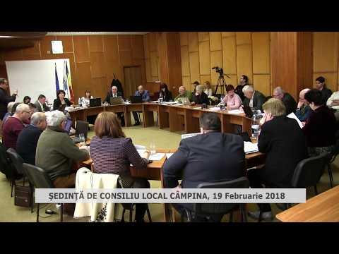 Sedinta consiliu local Campina 19 Februarie 2018
